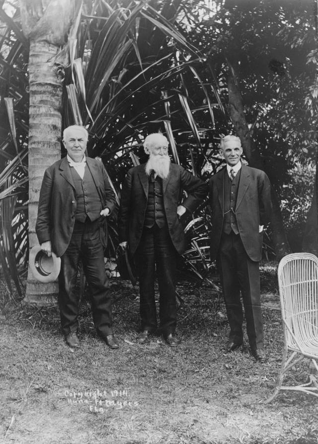 Edison, Burroughs and Ford, winter estates, Fort Myers, 1914